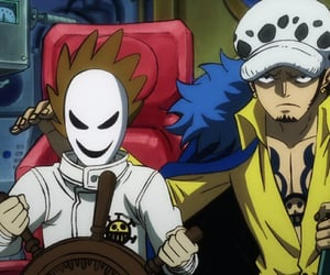 anime, trafalgar d water law, and one piece image