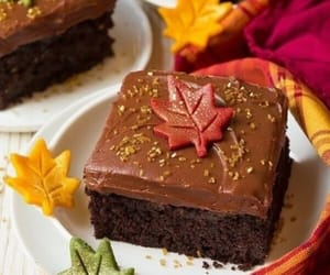 autumn, chocolate, and cake image