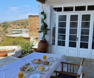 cosy, andros island, and food image