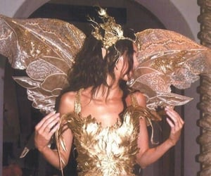kendall jenner, fairy, and gold image