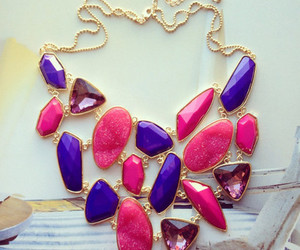 pink, necklace, and purple image