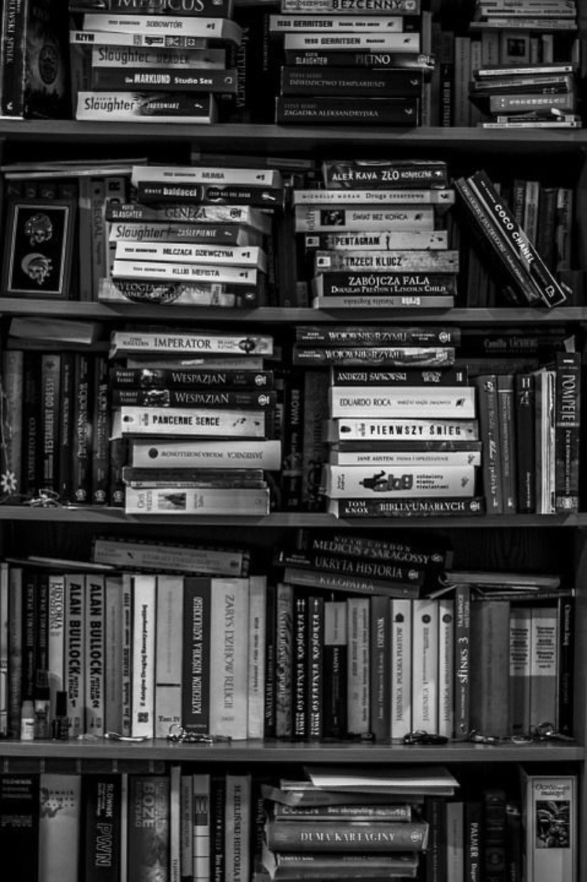 book, black and white, and aesthetic image