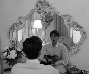 black white, kpop, and son image