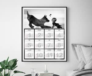 christmas gift, printable calendar, and dog lovers decor image