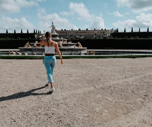 chateau de versailles, traveling, and woman image
