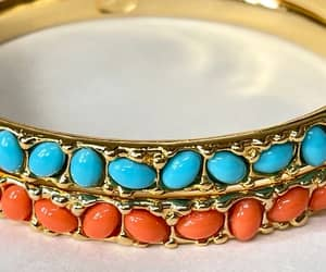 etsy, coral bangle, and designer jewelry image