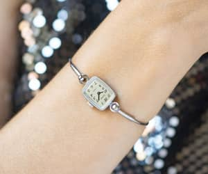 etsy, rectangular watch, and arabic numerals dial image