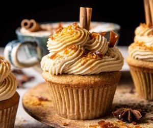 caramel, cupcakes, and dessert image