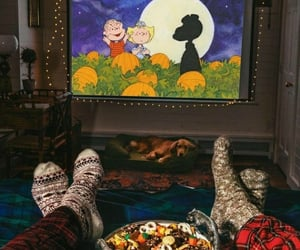 autumn, cosy, and movie night image