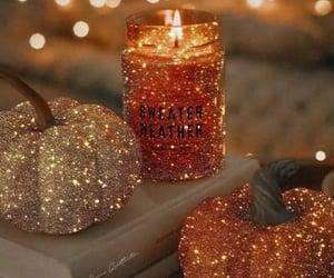 autumn, pumpkin, and sparkle image