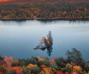 autumn, lake, and landscape image