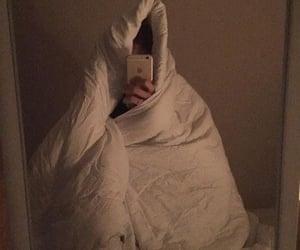 bed, blanket, and find image