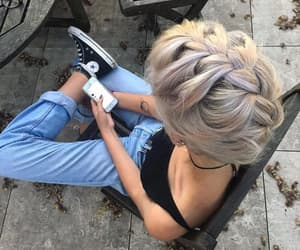 converse, girl, and denim image