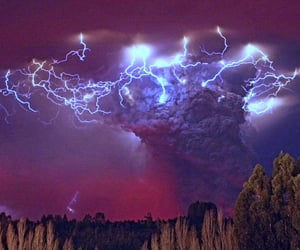 bad weather, thunderstorms, and lightning strike image