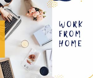 work from home, virtual assistant, and freelancer image