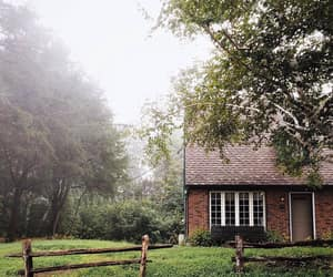 autumn, cottage, and misty image