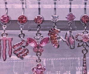 jewerly, butterfly, and pink image