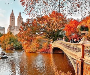 """"""" Are you FALLing for NYC?  Today is September Equinox, first day of fall in the northern hemisphere when the day and night will be almost equal in most locations. This shot was taken by the lake in Central Park with the San Remo towers framed by autumn l"""
