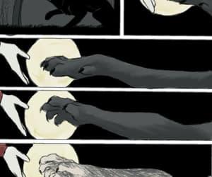 full moon, derek, and werewolf image