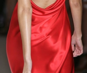dress, fashion, and red vogue image
