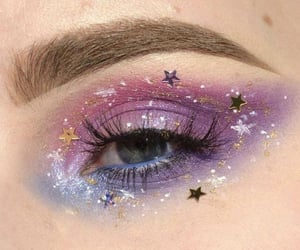 eye, makeup, and purple image