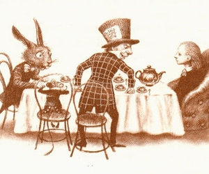 wonderland, alice in wonderland, and tea party image