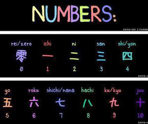 japan, japanese, and numbers image