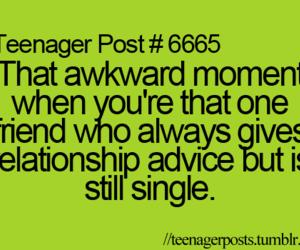single, teenager post, and advice image