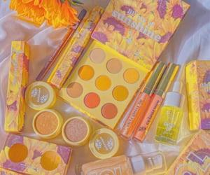 makeup, sunshine, and yellow image