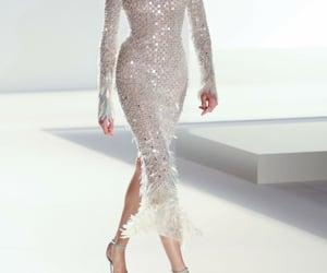 dress, fashion show, and white image