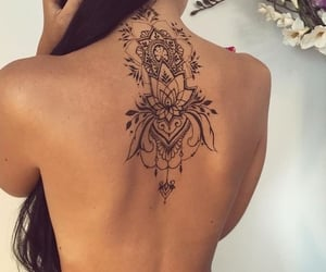 art, ink, and back tattoo image