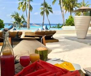 beach, food, and praia image