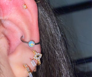 bling, jewels, and Piercings image