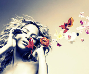 shakira and flowers image