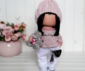 art doll, baby shower, and baby doll image
