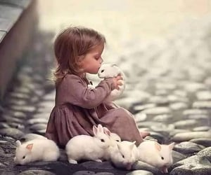 baby, animals, and cute girl image