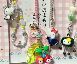 beads, keychain, and hello kitty image