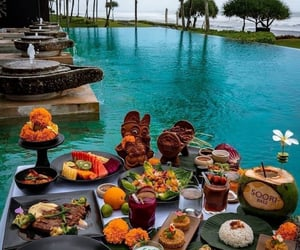 bali, landscape, and water image