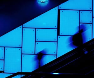 blue, blur, and silhouette image