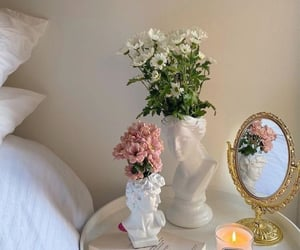 aesthetic, bedroom, and flowers image