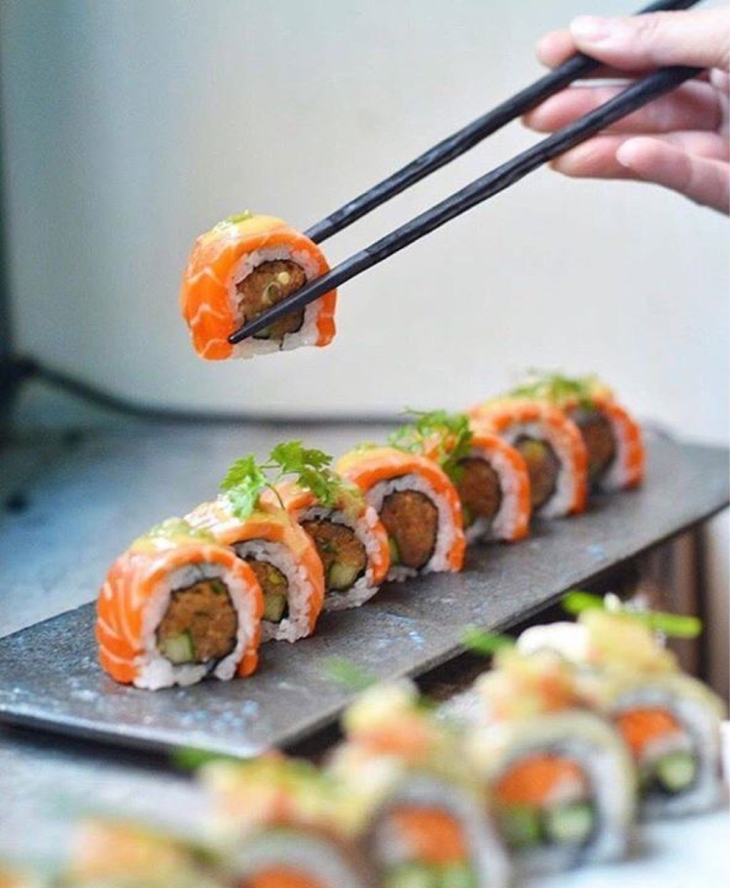 delicious, sushi, and tasty image