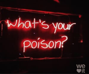 black and red, néon, and poison image