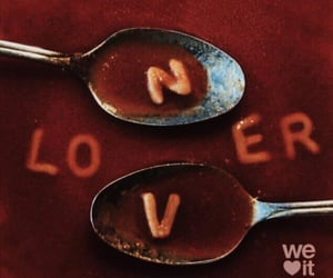 food, lover, and red image
