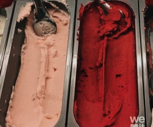 cream, ice, and red image