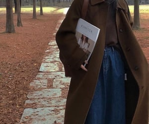 aesthetic, autumn, and brown coat image