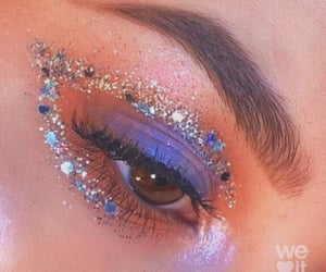 carefree, eyes, and glitters image