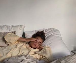 girl, interior, and sleep image
