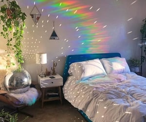 artistic, bed, and bedroom image