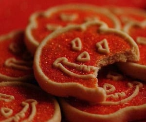baking, pumpkins, and sugar cookies image