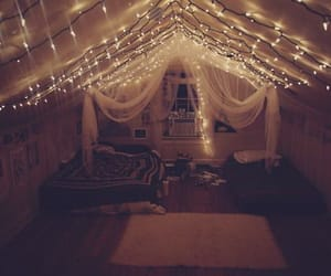art, bed, and canopy image